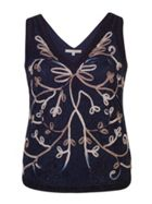 Chesca Ombre Cornelli Embroidered Lace Camisole
