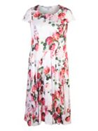 Chesca Floral Print Satin Dress
