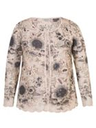 Chesca Sequin & Embroidered Mesh Jacket