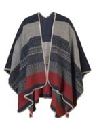 Aztec Detail Striped Wrap