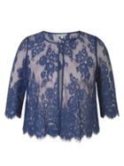 Chesca Eyelash Trim Scallop Lace Jacket
