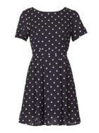 GOLDKID LONDON Heart Print Pleated Dress