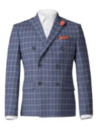 Men's Aston & Gunn Adams Blue Check Double