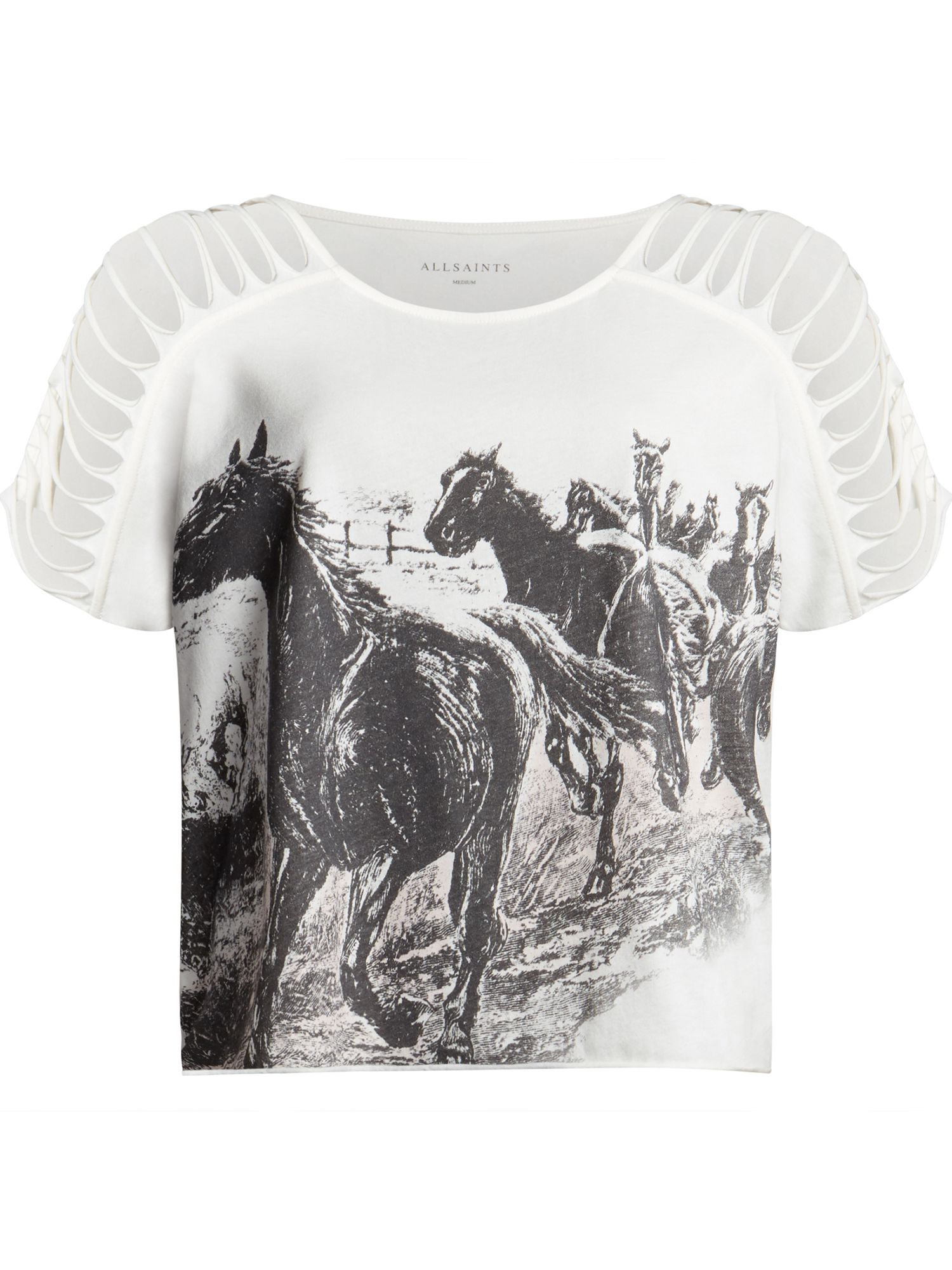 Riders Slashed Shoulder Tee by All Saints