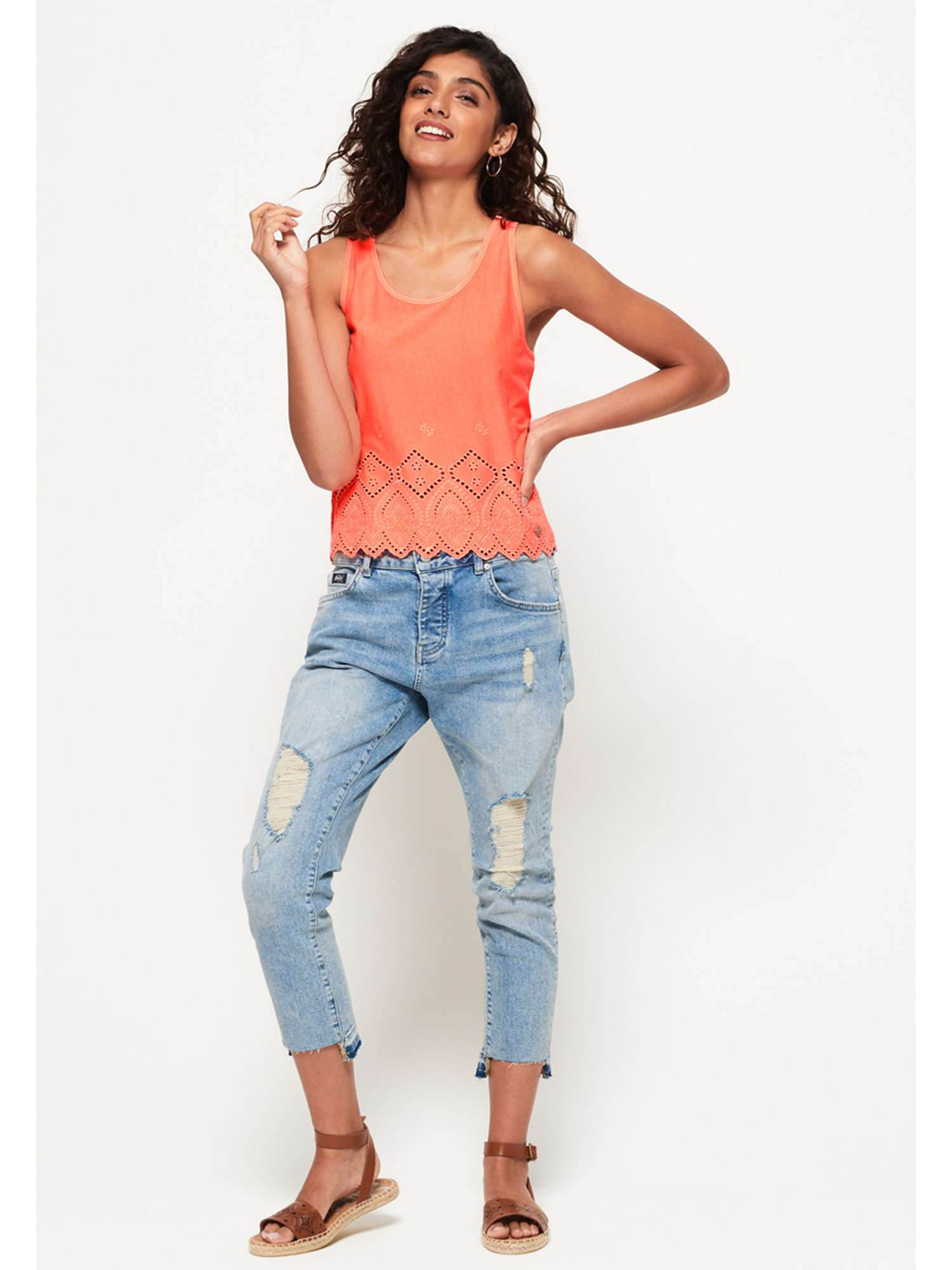 Broderie Pacific Pacific Superdry Broderie Broderie Tank Pacific Top Top Tank Superdry Superdry q6IAw