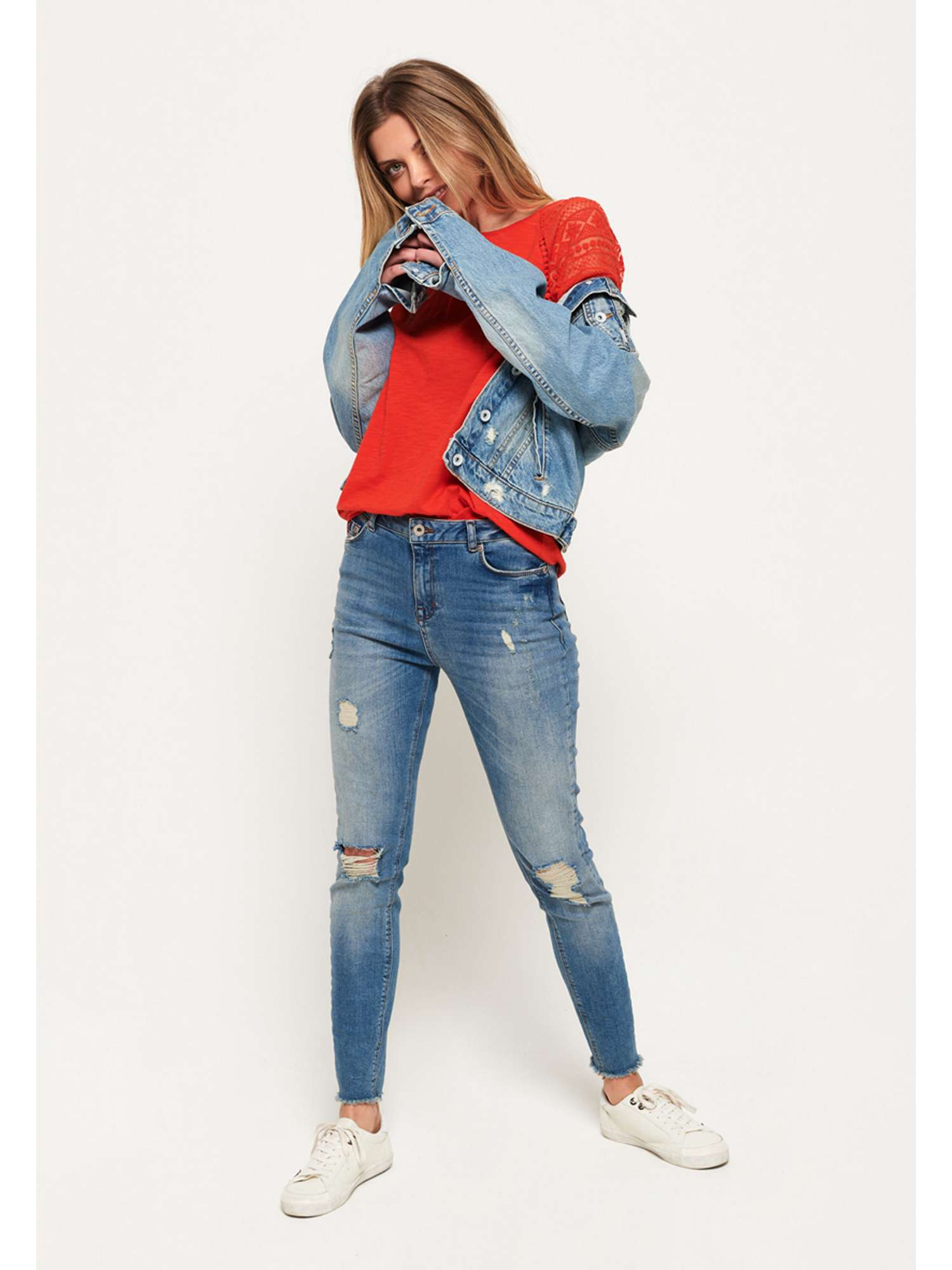 Embroidered Superdry Top Superdry Embroidered Raglan XTgnwPx
