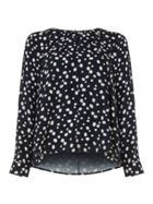 Phase Eight Marilyn Spot Cutwork Blouse
