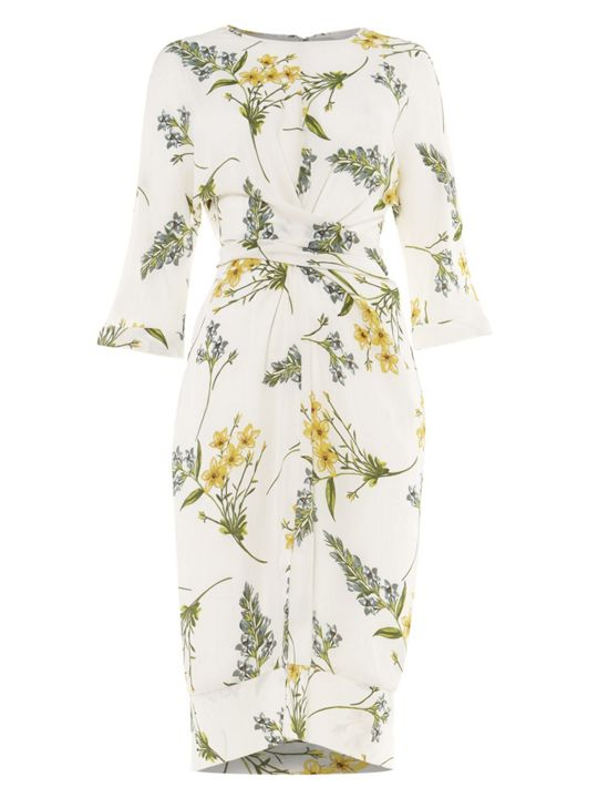 Phase Eight Sandrine Floral Wrap Tie Dress