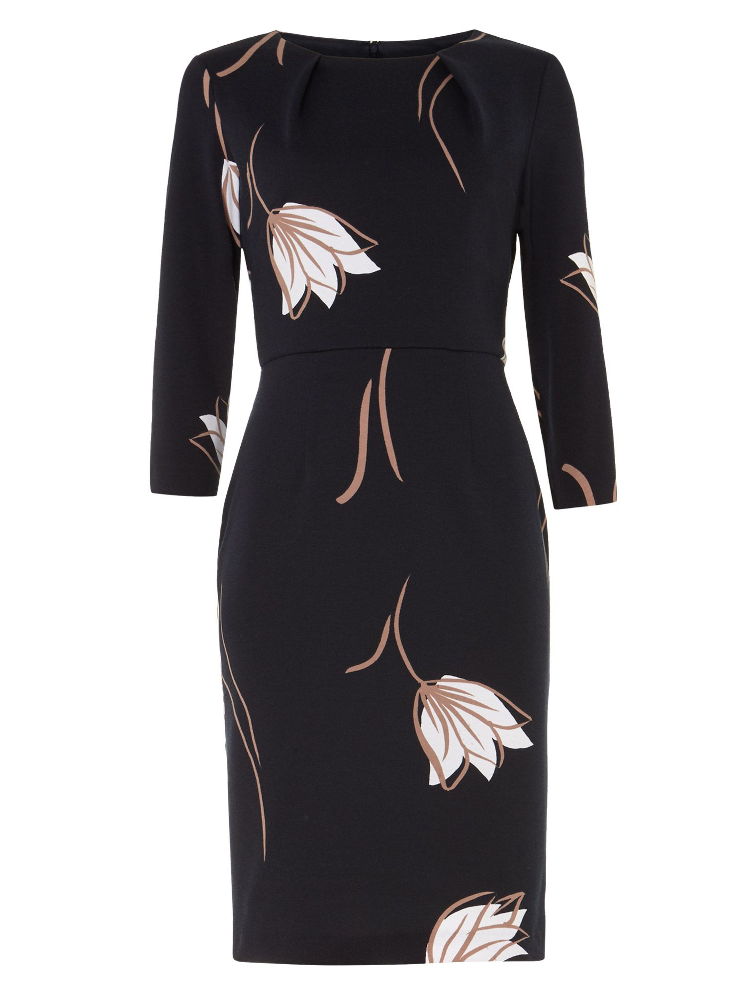 Phase eight black petal dress