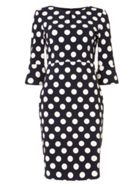 Phase Eight Katlyn 34 Sleeve Spot Dress