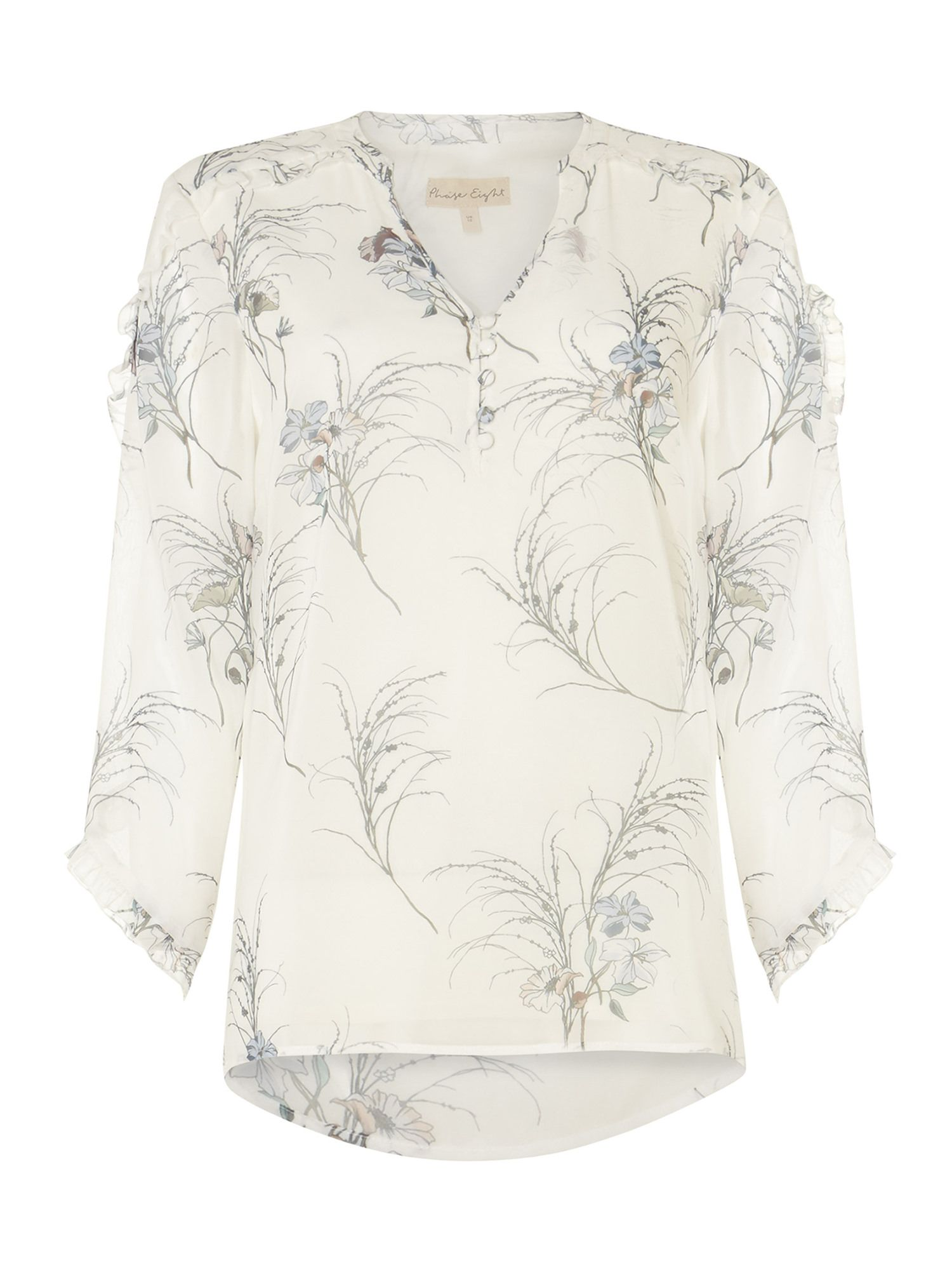 Buy Cheap Pre Order Outlet 2018 Newest Phase Eight Finn Floral Ruffle Blouse Pick A Best Cheap Price Enjoy Cheap Sale Latest Collections 2Yg9ti