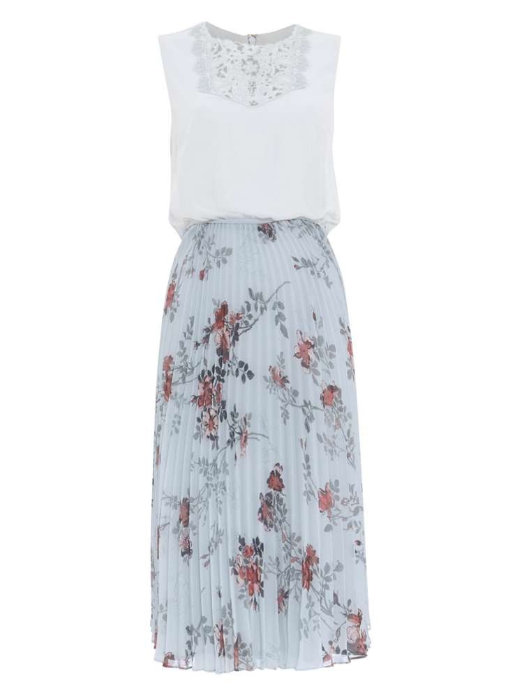 Phase Eight Patricia Pleated Floral Dress - House of Fraser