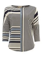 Phase Eight Elanna Engineered Stripe Top