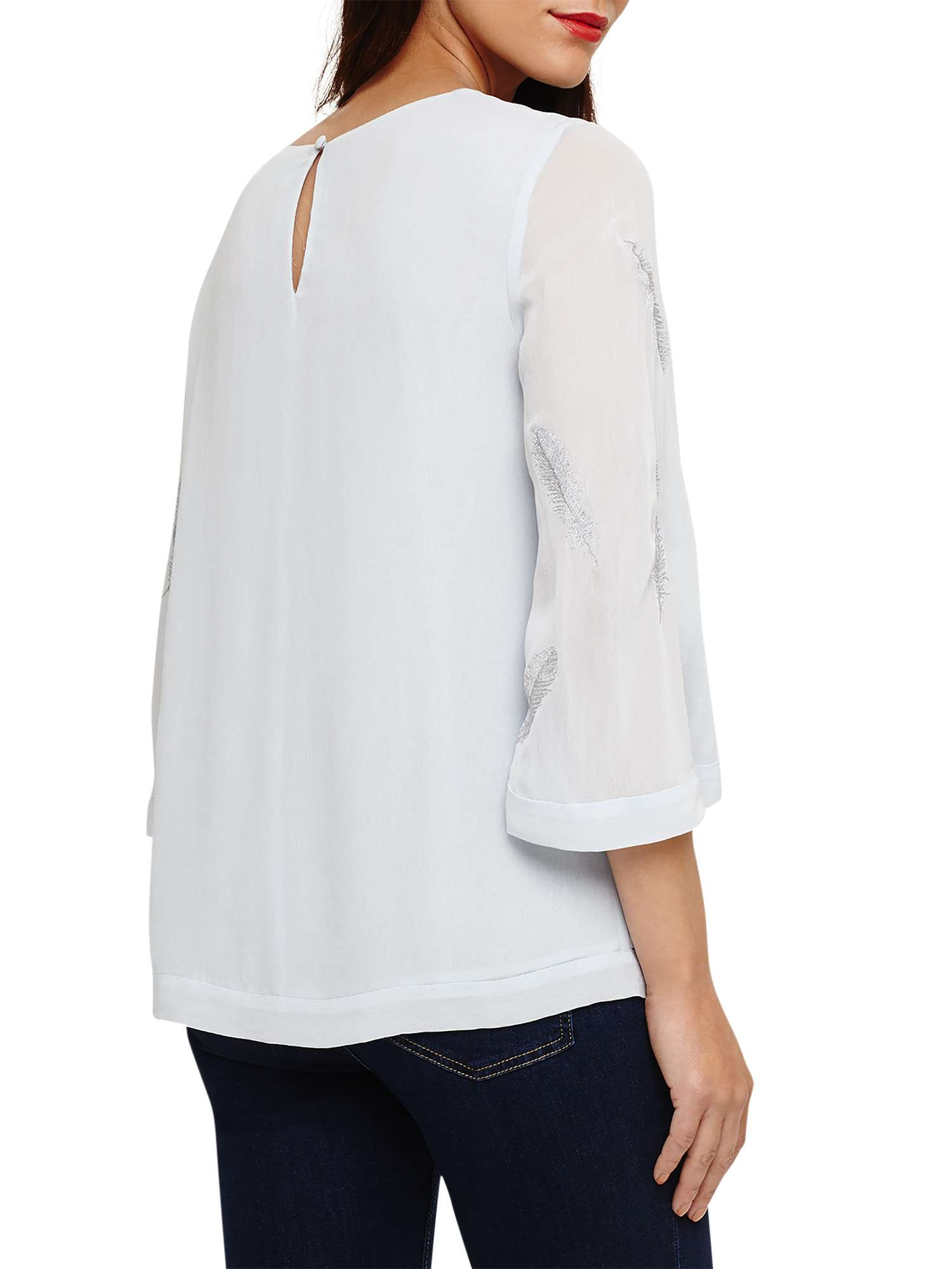 Embroidered Feather Blouse Odette Eight Phase qxatSYwEW7