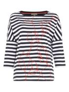 Phase Eight Ethel Emrboidered Stripe Top
