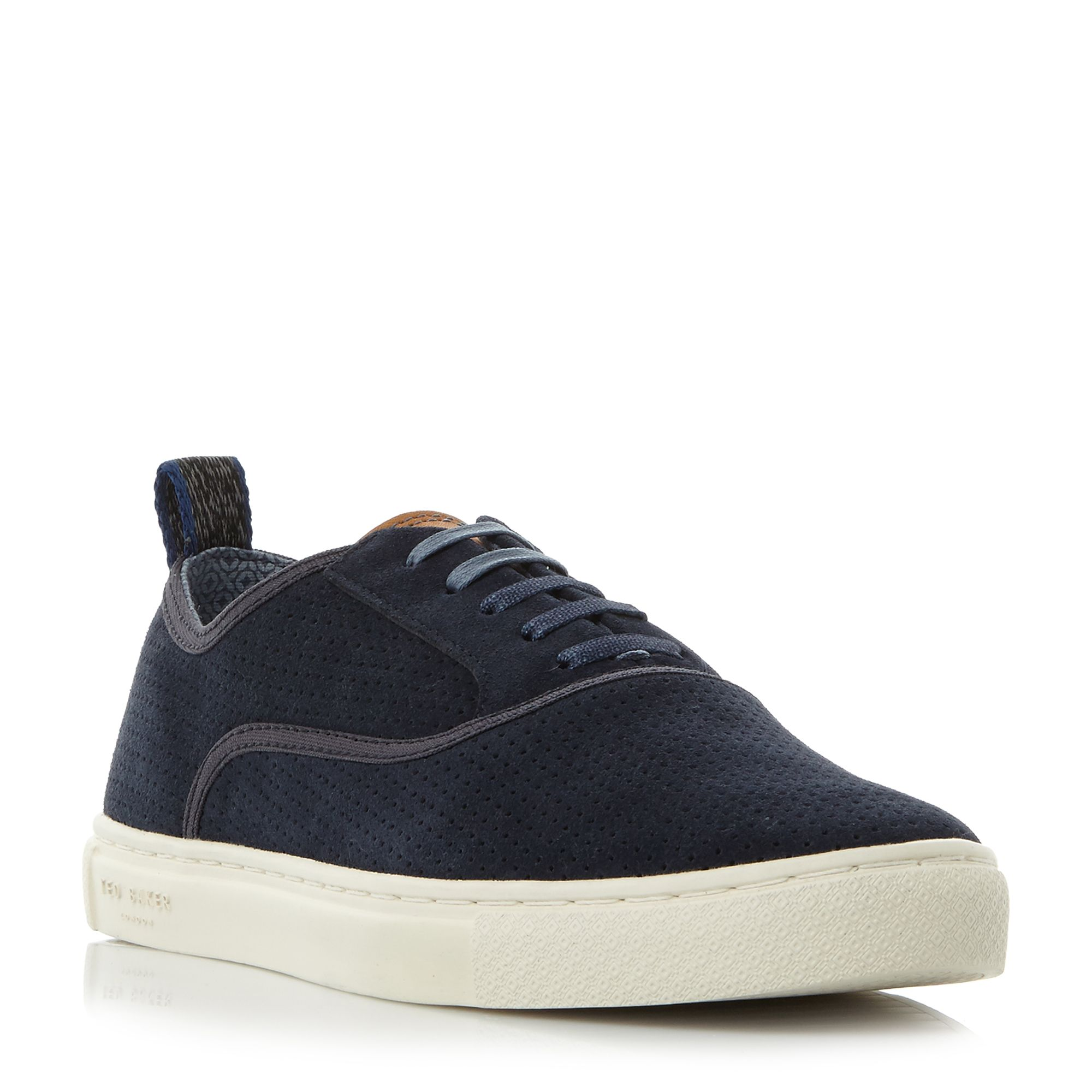 Ted Baker Odonel perforated suede sneakers ...