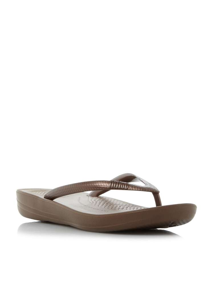 9847cbec3a76d9 FitFlop Iqushion Toepost Sandals. D787519. £24.00. Previous. selectedColor.  selectedColor
