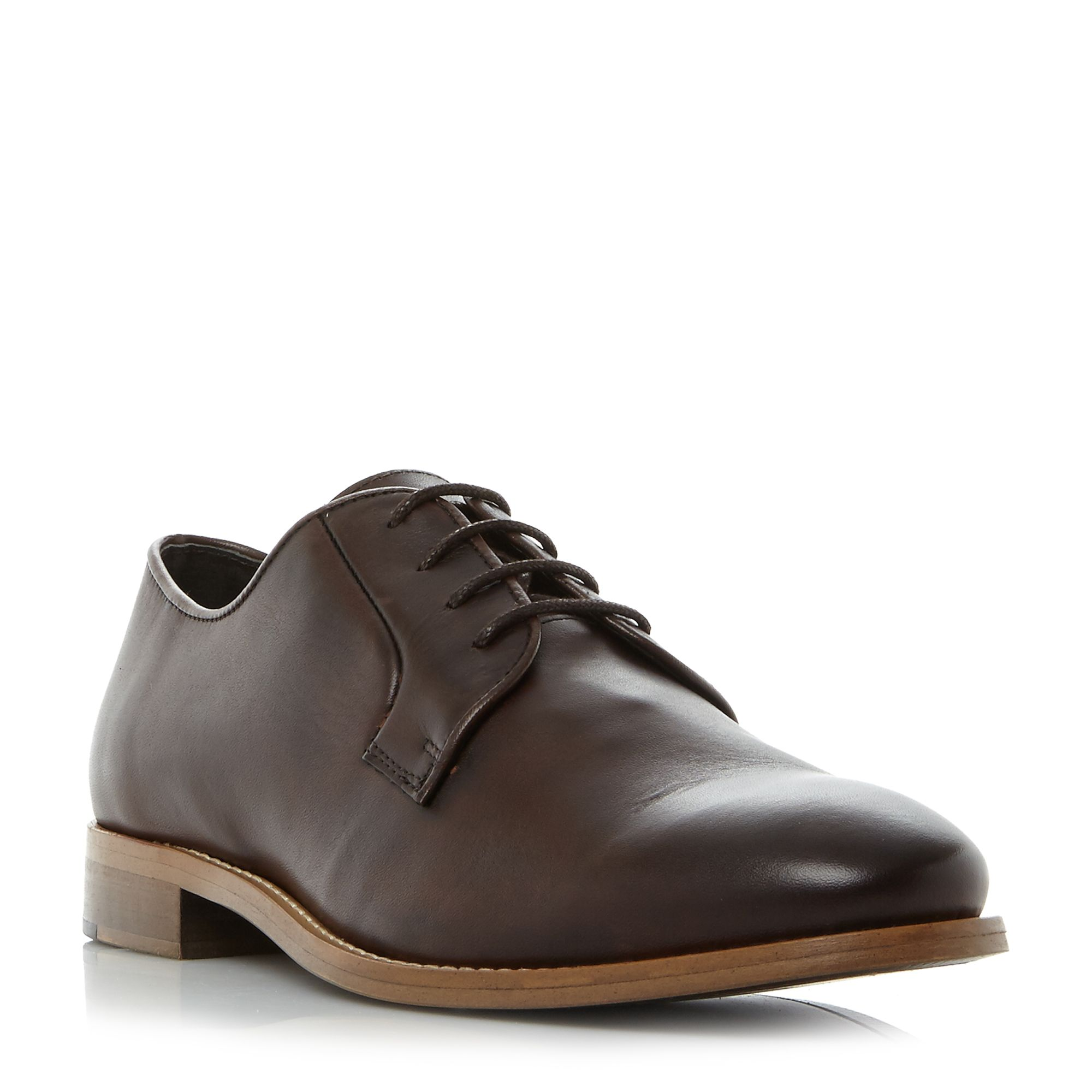 Bertie Porto natural sole lace up gibson shoes