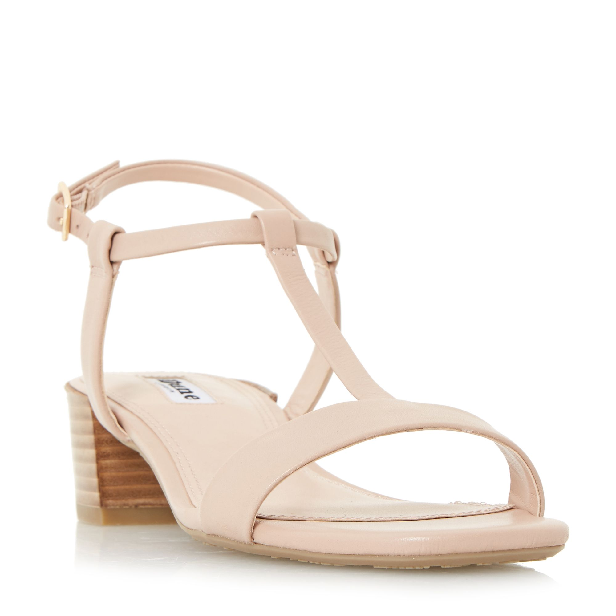 Dune Issie t bar stacked heel sandals ...