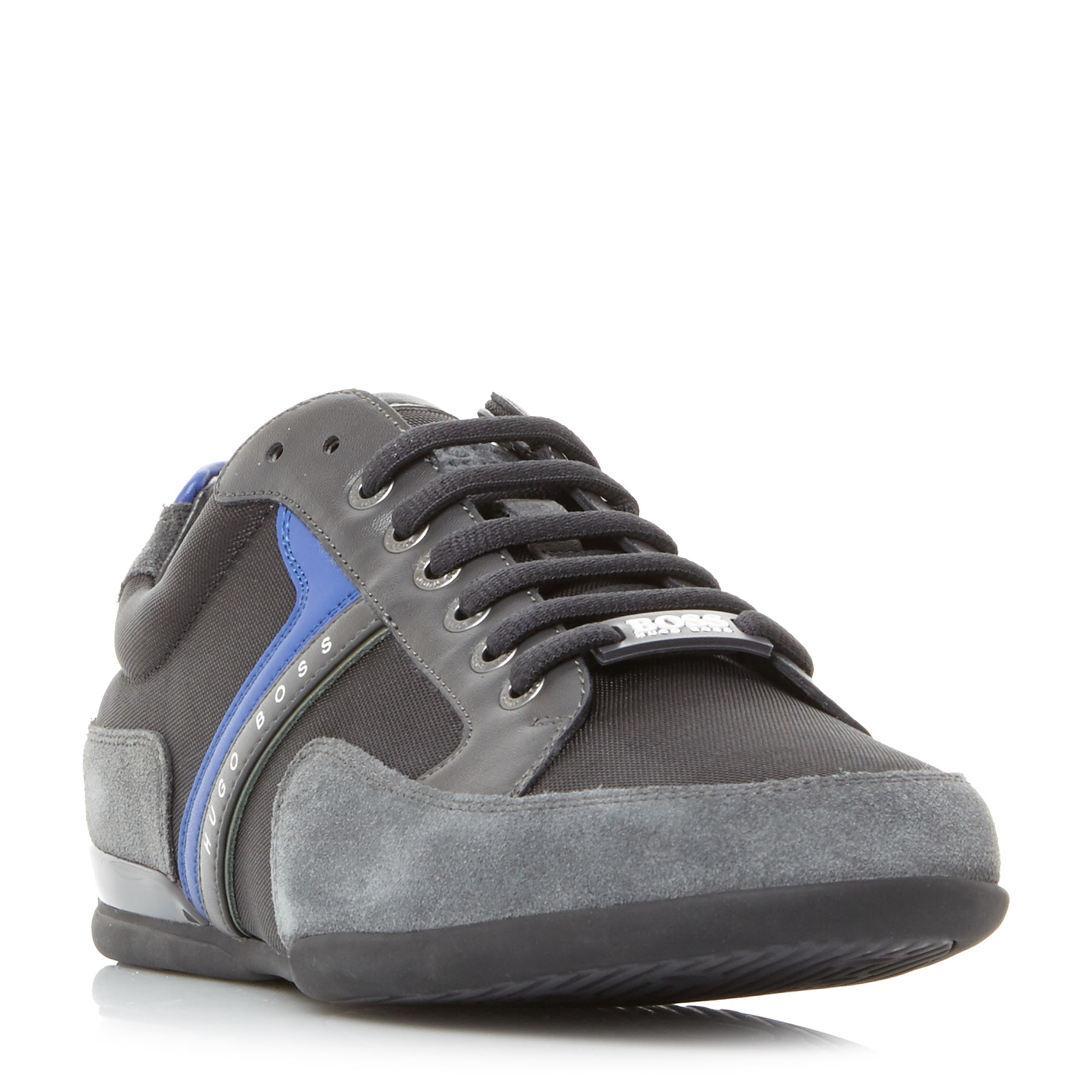 Hugo Boss Spacit Suede And Leather Trim Trainers ...