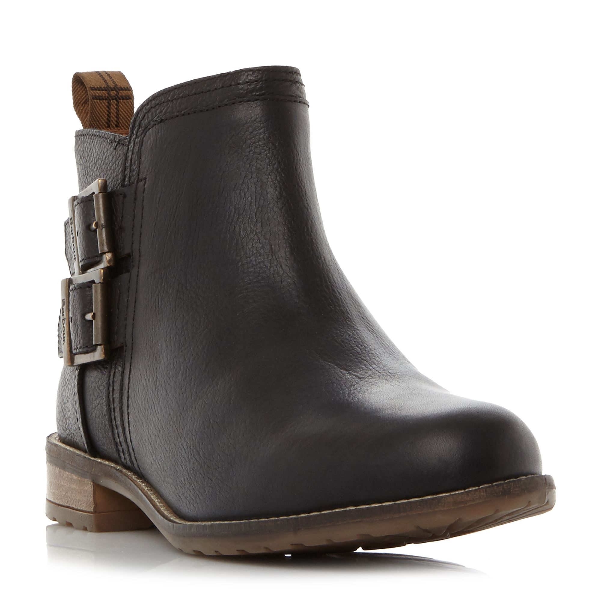 Barbour Sarah Low Double Buckle Ankle Boots ...