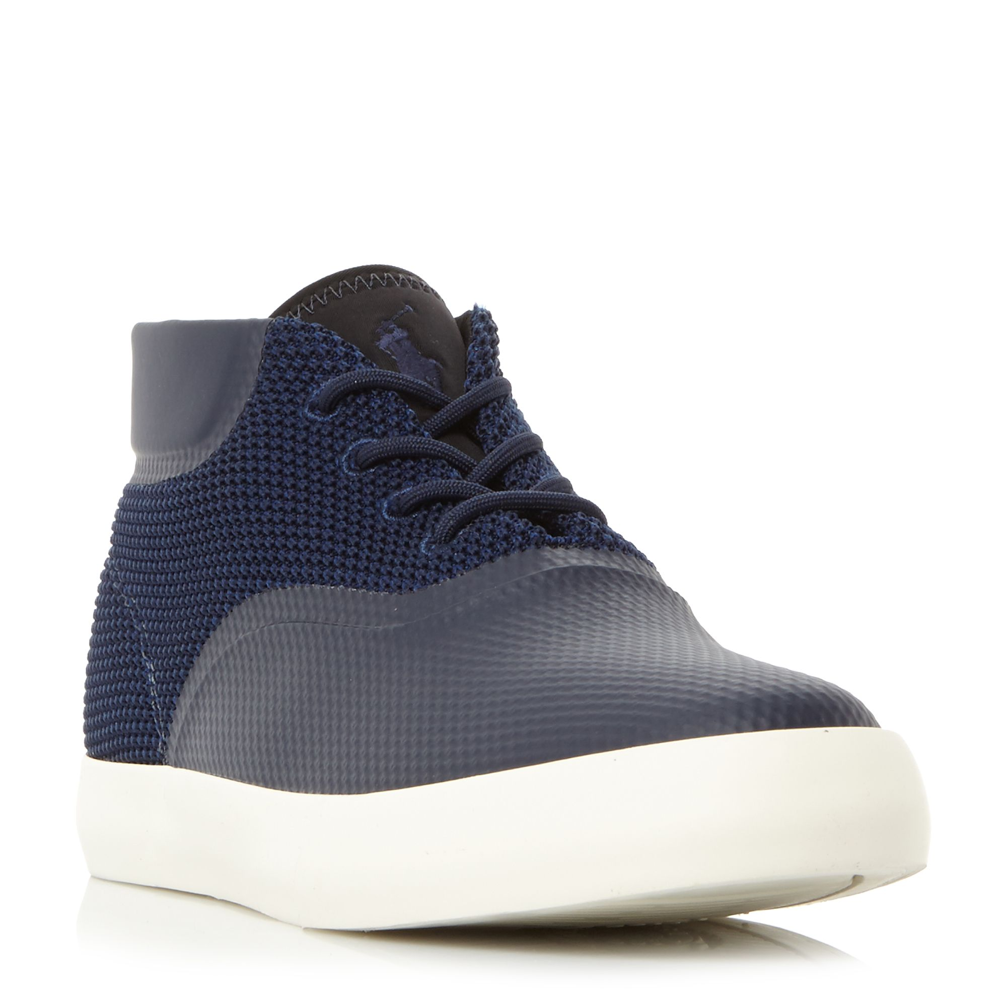 Polo Ralph Lauren Vadik Mesh Neoprene Hi-Top Trainers ...