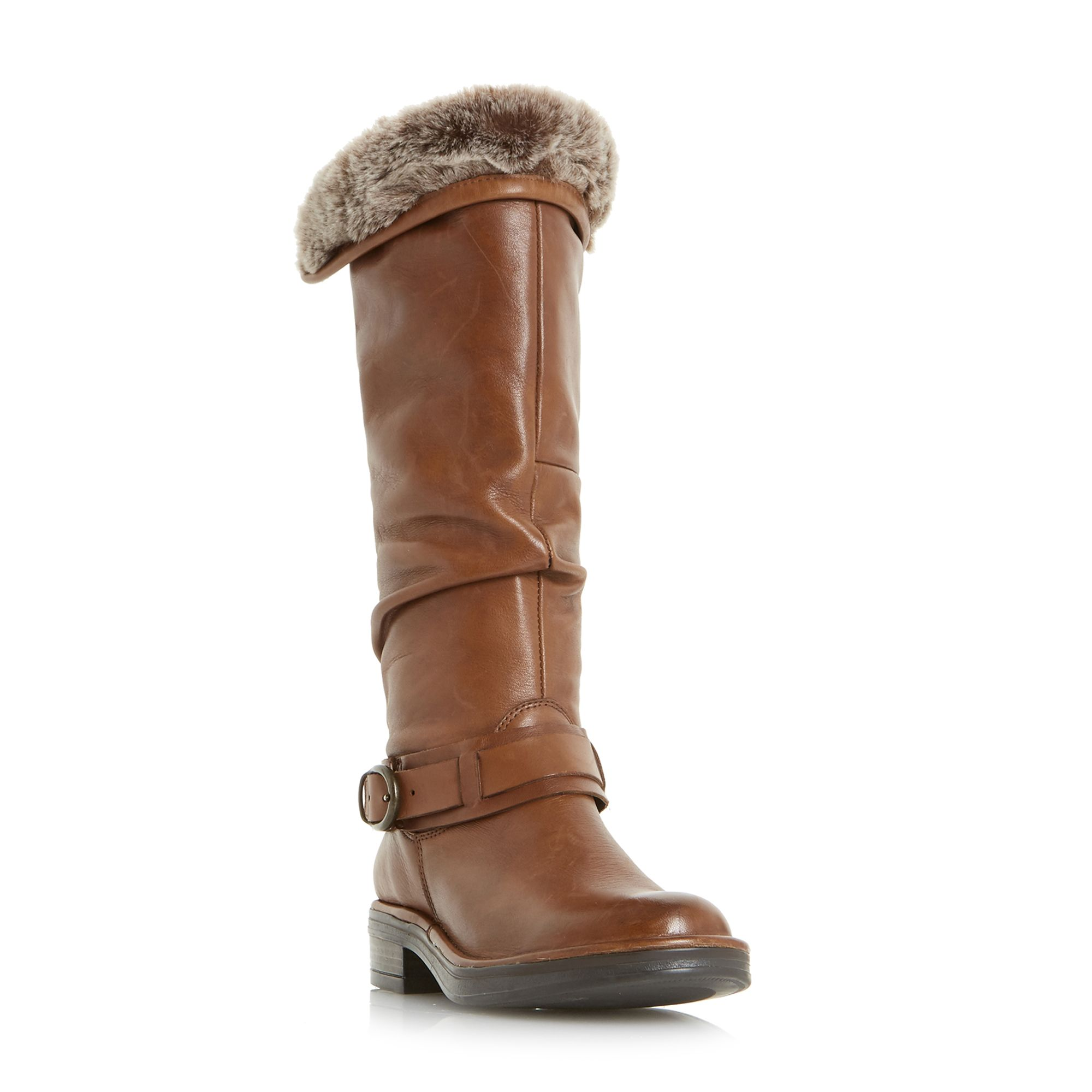 Dune Torie Ruched Flat Knee High Boots ...