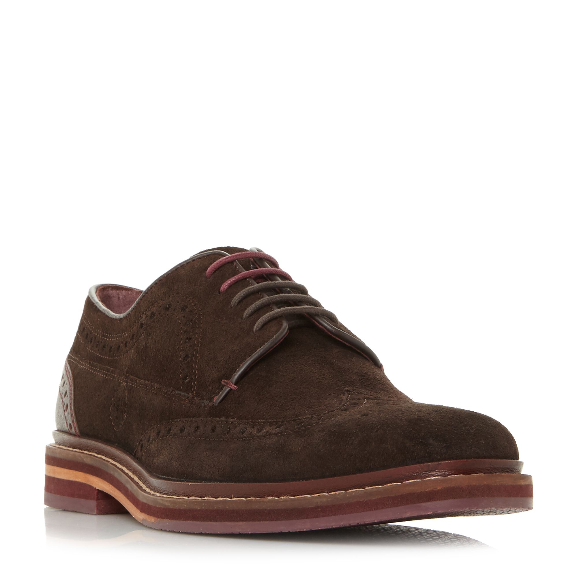 Gourdns Suede Derby Brogue Shoes by Ted Baker
