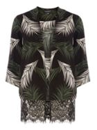 Leaf Print Lace Cover-up