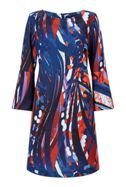 James Lakeland Printed Flute Sleeve Dress