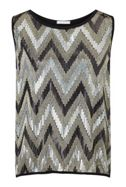 James Lakeland Zig Zag Sequin Top