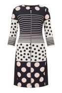James Lakeland Polka Dot Zip Dress