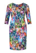 James Lakeland Abstract Floral Print Dress