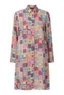 James Lakeland Print Button Shirt Dress