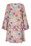 James Lakeland Print Bell Sleeve Dress