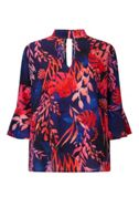 James Lakeland Tropical Print Blouse