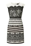 James Lakeland Print Lace Panel Dress