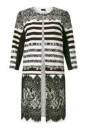 James Lakeland Print Lace Panel Trench