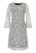 James Lakeland Lace Bell Sleeve Dress