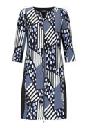 James Lakeland Zip Polka Dot Stripe Dress