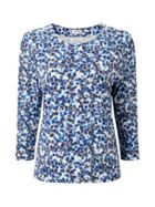 Petal Haze Printed Top