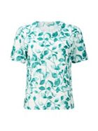 Jade Mono Leaf Jersey Top