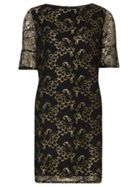 Shimmer Lace Shift Dress