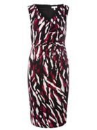 Lily & Franc Abstract Animal Print Dress