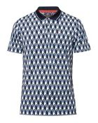 Cleek Ss Square Geo Print Polo