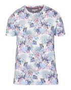 Driveup Geo And Floral Print T-shirt