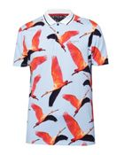 Men's Ted Baker Albatro Ss Flamingo Print Golf