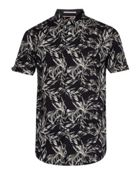 Men's Ted Baker Twinnie Leaf Print Cotton Shirt