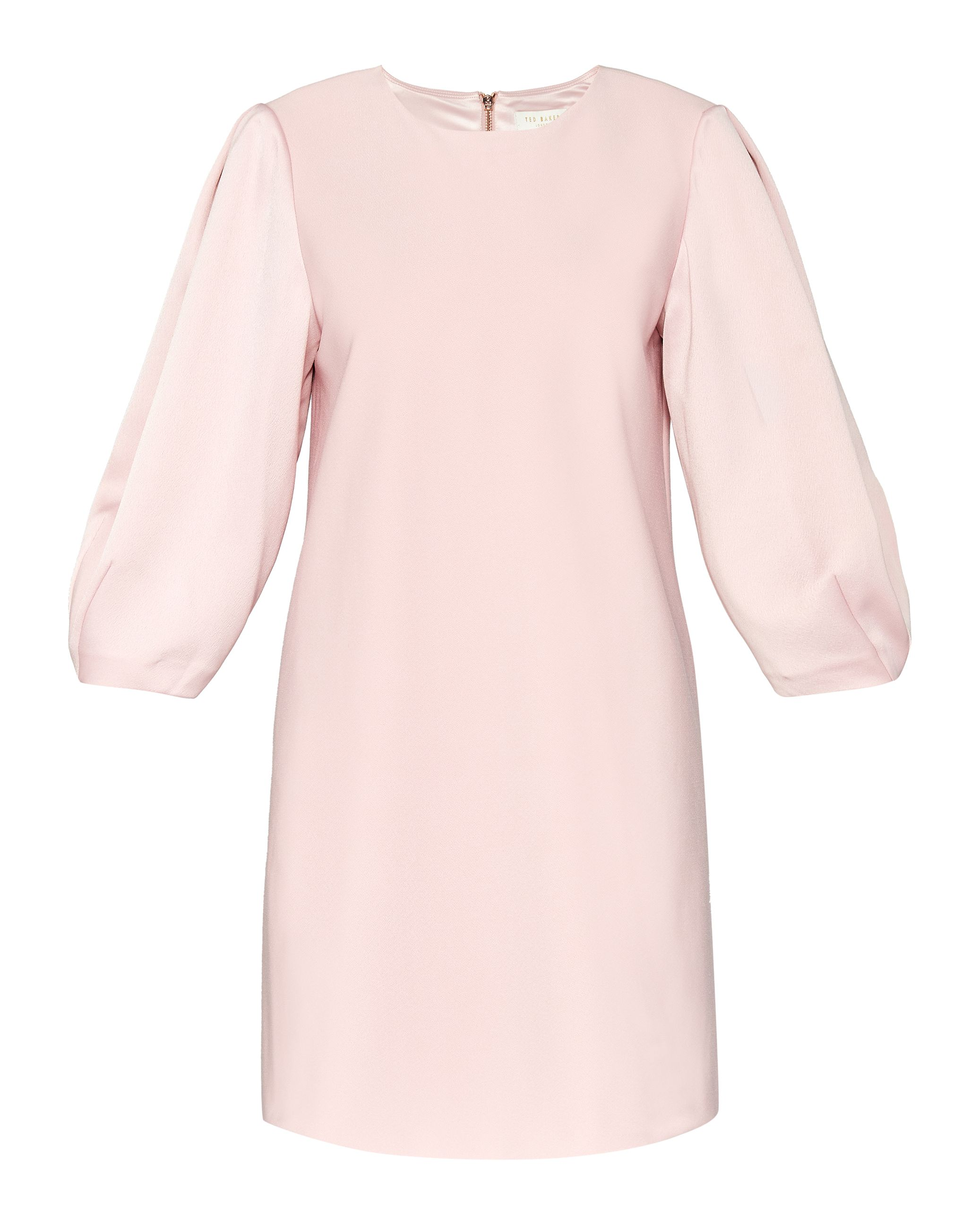 Ted Baker Nilai Puff Sleeved Tunic Dress, Pink