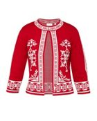 Ted Baker Roiley Scarlet Jacquard Cardigan